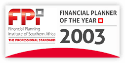 Financial Planner of the Year 2003 badge
