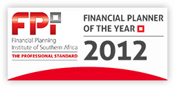 Financial Planner of the Year 2012 badge
